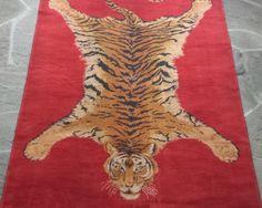 Vintage Mid-Century Tiger Rug | Hillside Schoolhouse