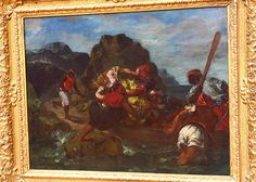 Eugène DELACROIX, Pirates africains enlevant une jeune femme, 1852, for more, please visit http://www.painting-in-oil.com/artworks-Delacroix-Eugene-page-1-delta-ALL.html