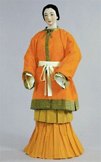 Shows different garments from different periods and samurai armor