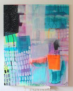 Abstract painting by Mette Lindberg - www.mettesmaler.dk