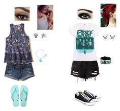 """""""Normal girls vs me in the summer"""" by arannomnom on Polyvore featuring Disney, Hollister Co., Havaianas, Alex and Ani, Converse, Nintendo and Max Factor"""