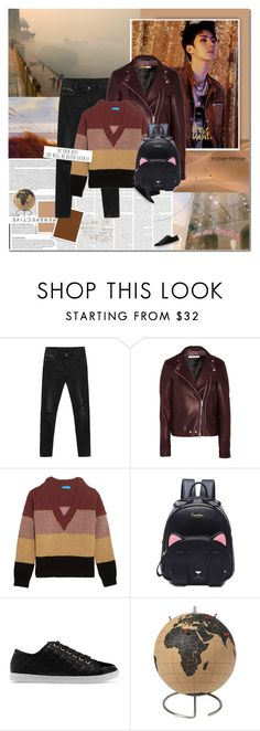 """""""It is the sound of leaves in the trees dancing and writing beautiful poetry across the skies."""" by rainie-minnie ❤ liked on Polyvore featuring Givenchy, M.i.h Jeans, DKNY and CB2"""