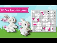 3D Perler Bead Easter Bunny.  Laceys Crafts is all about sharing super simple and adorable crafts for kids. Enjoy!