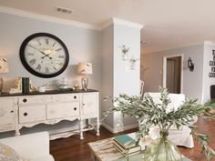 Shabby Chic Living Space is Light and Airy