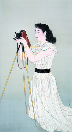 """""""Painted by Women: Elegance of Showa Period"""" announces a thematic concern of the time, on which the art world was rigidified. Japan had embarked u Japanese Art Modern, Japanese Prints, Vintage Japanese, Graphic Design Illustration, Illustration Art, Female Painters, Art Japonais, Japanese Painting, Museum Of Fine Arts"""