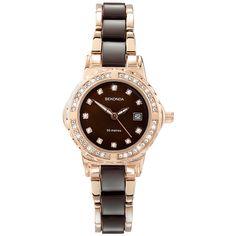f22897869 Buy Sekonda 4892.27 Women's Crystal Stainless Steel Bracelet Watch, Rose  Gold/Black | John