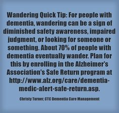 #wandering #dementia #safereturn
