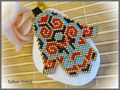 Fatima's hand brick & peyote stitch