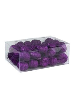 Do you want to build a purple pumpkin patch? These mini pumpkins will do the job! Pick up these 36 Piece Purple Glitter Mini Pumpkins!