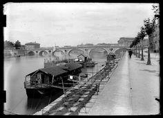 Eugène Trutat (1840-1910): Le pont Neuf vu depuis le quai de Tounis