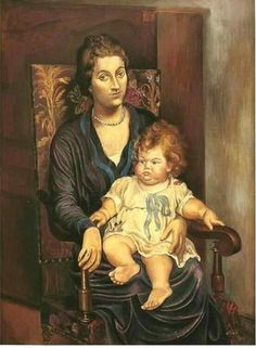 Picasso.1918. Portrait of Mrs. Rosenberg and daughter