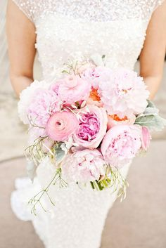 Gorgeous pink blooms! Bouquet by Bows + Arrows. Photo by Perez Photography. #wedding #bouquet #pink