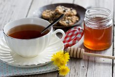 Cup of tea - Cup of hot tea with delicious cookies selected