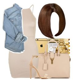 """""""•Tell me wat u thinkin•"""" by maiyaxbabyyy ❤ liked on Polyvore featuring Yves Saint Laurent, Topshop and Charlotte Russe"""