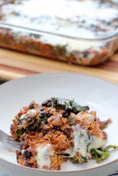 Great freezer meal: quinoa and enchilada bake