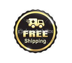 Golden Free Shipping Badge