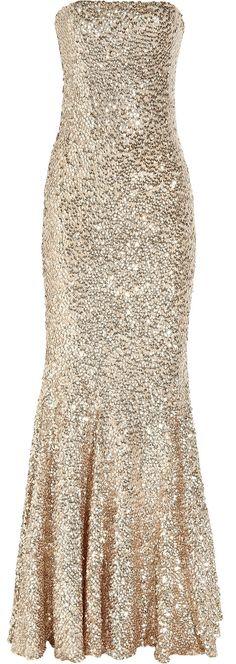 Rachel Gilbert Shayla sequined tulle gown