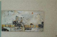 Abstract in acryl 60 x 1.20 cm. 3D. eigen werk. beschikbaar