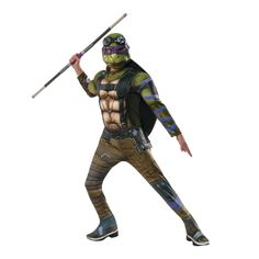 Teenage Mutant Ninja Turtles 2 Deluxe Donatello Halloween Costume for Kids
