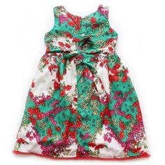 Vestido Pompom Flores do Campo - CutiCutiBaby - Roupas e Acessórios para bebês e crianças