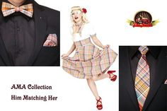 Match your sweetheart a cool Rockabilly couple.