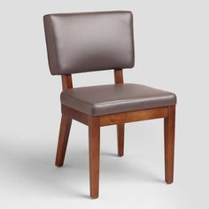 Gray Bonded Leather Sophia Chairs, Set of 2 - v1