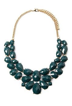 Faux Gemstone Statement Necklace from Forever 21 $9,90