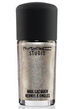 This dynamic polish makes gunmetal look festive. MAC Studio Nail Lacquer in Fabulous Fete, $12, available at MAC.