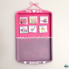 Chore Charts for Children - easy DIY magnetic to-do chart for preschoolers or older kids