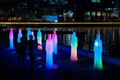 iLight Festival in Singapore to Unveil Shining LED Sculptures - Environment - InfoNIAC - Latest Inventions Outdoor Playground, Light Art, Light And Shadow, Marina Bay, Installation Art, Outdoor Lighting, Singapore, Sculptures, Lights