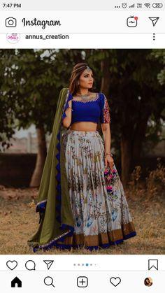 Choli Designs, Saree Blouse Designs, Blouse Styles, Garba Dress, Navratri Dress, Indian Gowns Dresses, Indian Outfits, Lengha Choli, Lehenga Blouse