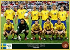Sweden team group at the 2006 World Cup Finals. 2006 World Cup Final, Fan Picture, Fifa World Cup, Trinidad And Tobago, Sweden, Squad, Germany, Football, Baseball Cards