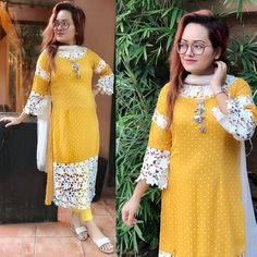 Best 12 I love diz dress Dress Neck Designs, Stylish Dress Designs, Designs For Dresses, Stylish Dresses, Fashion Dresses, Neckline Designs, Fashion Wear, Casual Dresses, Pakistani Dresses Casual