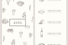 Trendy restaurant menu design