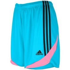 adidas Tiro 11 Short - Women's - Soccer - Clothing - Super Cyan/Phantom/Ultra Pop