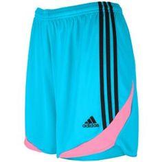 adidas Tiro 11 Short - Women's - Soccer - Clothing - Super Cyan/Phantom/Ultra Pop