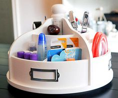 Use as baby changing organizer for diaper cream clippers etc