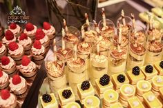 various mini dessert tray
