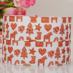 5 Yards 7/8' Christmas Tree and Gifts Printed Christmas Ribbon DIY Party Decoration Grosgrain Ribbon RED -- To view further for this item, visit the image link.
