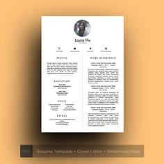 Design Resume Template CV Cover Letter & References by TheFrenchResume. Curriculum Vitae Creative CV original, Creative Originaux Graphiste Minimaliste Modern Resume Modern Resume Template Professional CV Template, MS Word, Creative Resume Template, Simple Resume, Teacher Resume, Instant Download, Template Professional CV Template, MS Word, Creative Resume Template, Simple Resume, Teacher Resume, Instant Download,