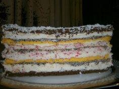 """Торт """"Тернопільська вишиванка"""". Тісто 1: 7 білків, 1 скл. цукру, 3 ст. л. муки…"""