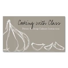 Watercolor spoon catering chef business card a catering kit garlic cloves chef cooking culinary business ca business card reheart Image collections