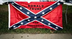 Confederate flag for sale at a recent Trump rally in Richmond, Virginia