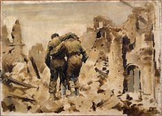 Peter McIntyre, Wounded at Cassino, March 1944