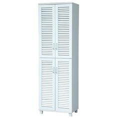 4-Door Paulownia Shoe Storage Cabinet - White $209 free pick up at 7  sc 1 st  Pinterest : storage cabinets sydney - Cheerinfomania.Com