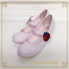 Baby, the stars shine bright Strawberry and cherry enamel shoes