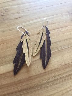 Faux leather earings