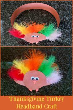 "A fun Thanksgiving turkey headband craft for toddlers! <a href=""http://blog.rightstart.com"" rel=""nofollow"" target=""_blank"">blog.rightstart.com</a>!"