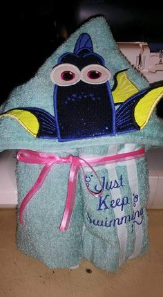 Blue Fish Hooded Towel