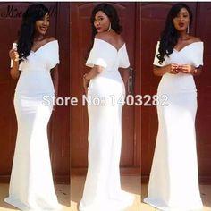 Lange Avondjurken White African Long Evening Dresses For Wedding Mermaid Off The…